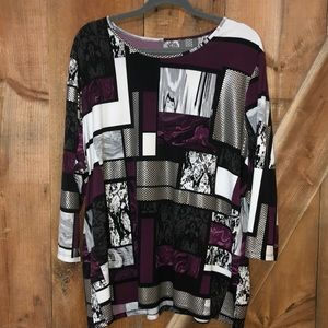 Tanjay pattern top plus size